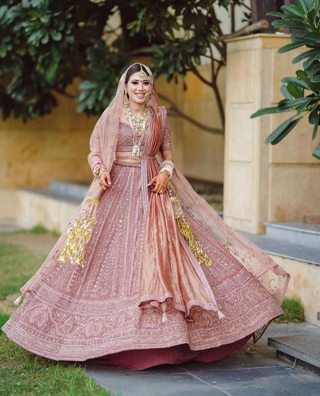 dusky pink Payal Keyal lehenga