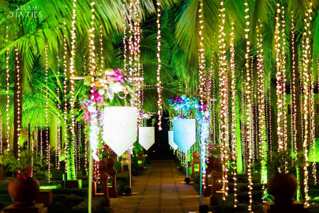 Fairy Lights Entrance Decor