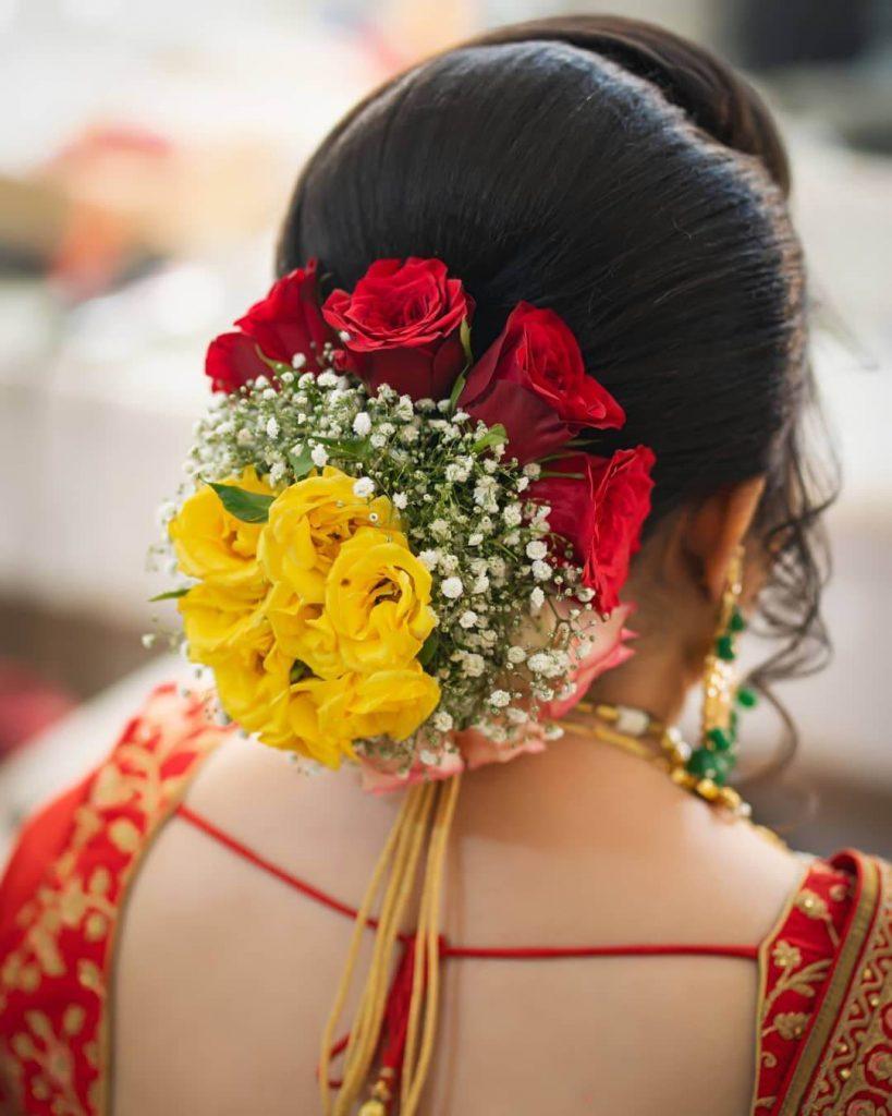 bridal buns for brides