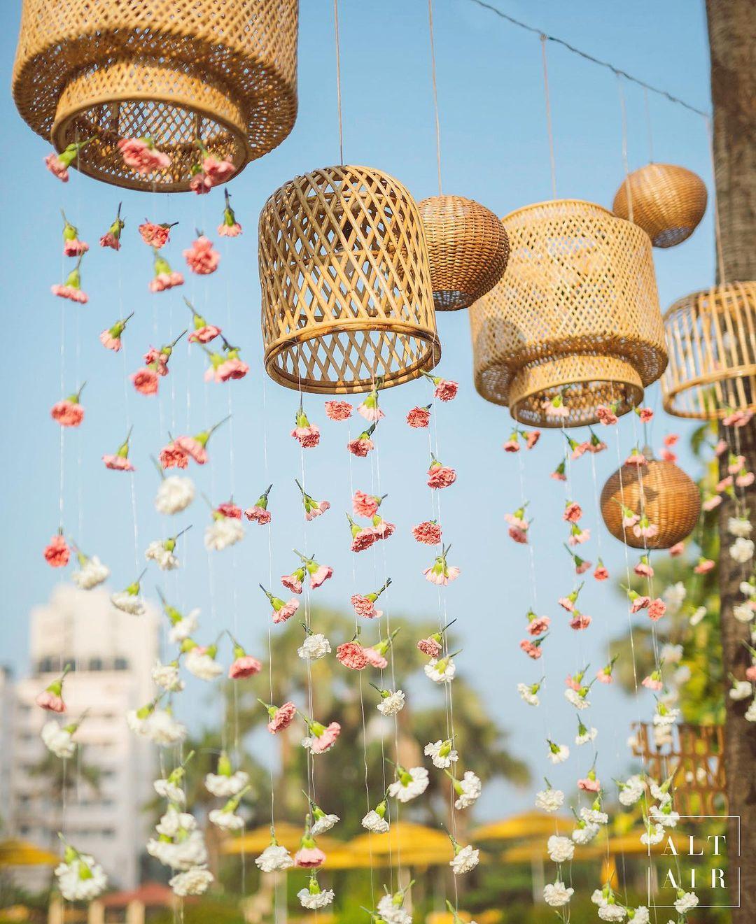 floral sring wicker decor