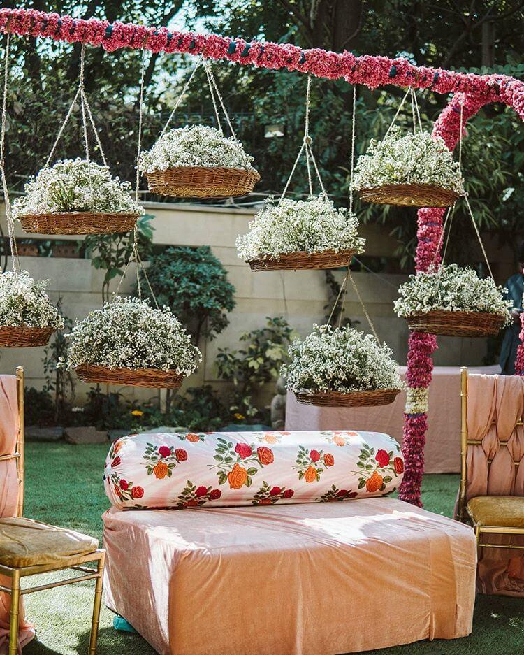 floral wicker baskets
