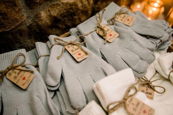 gloves as winter wedding favors