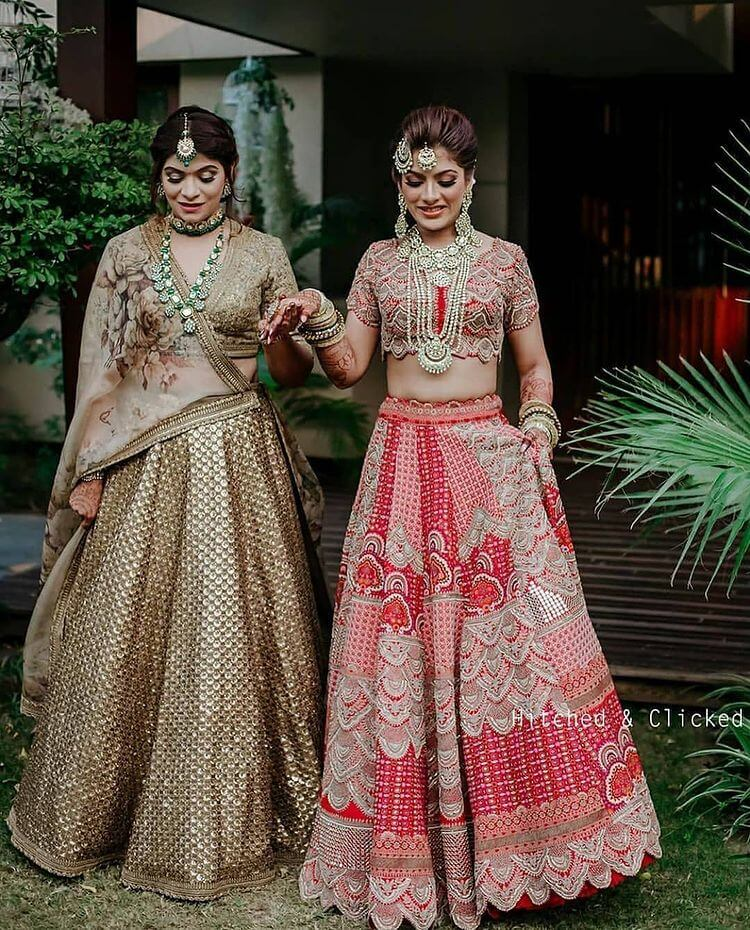 bridesmaids lehenga designs