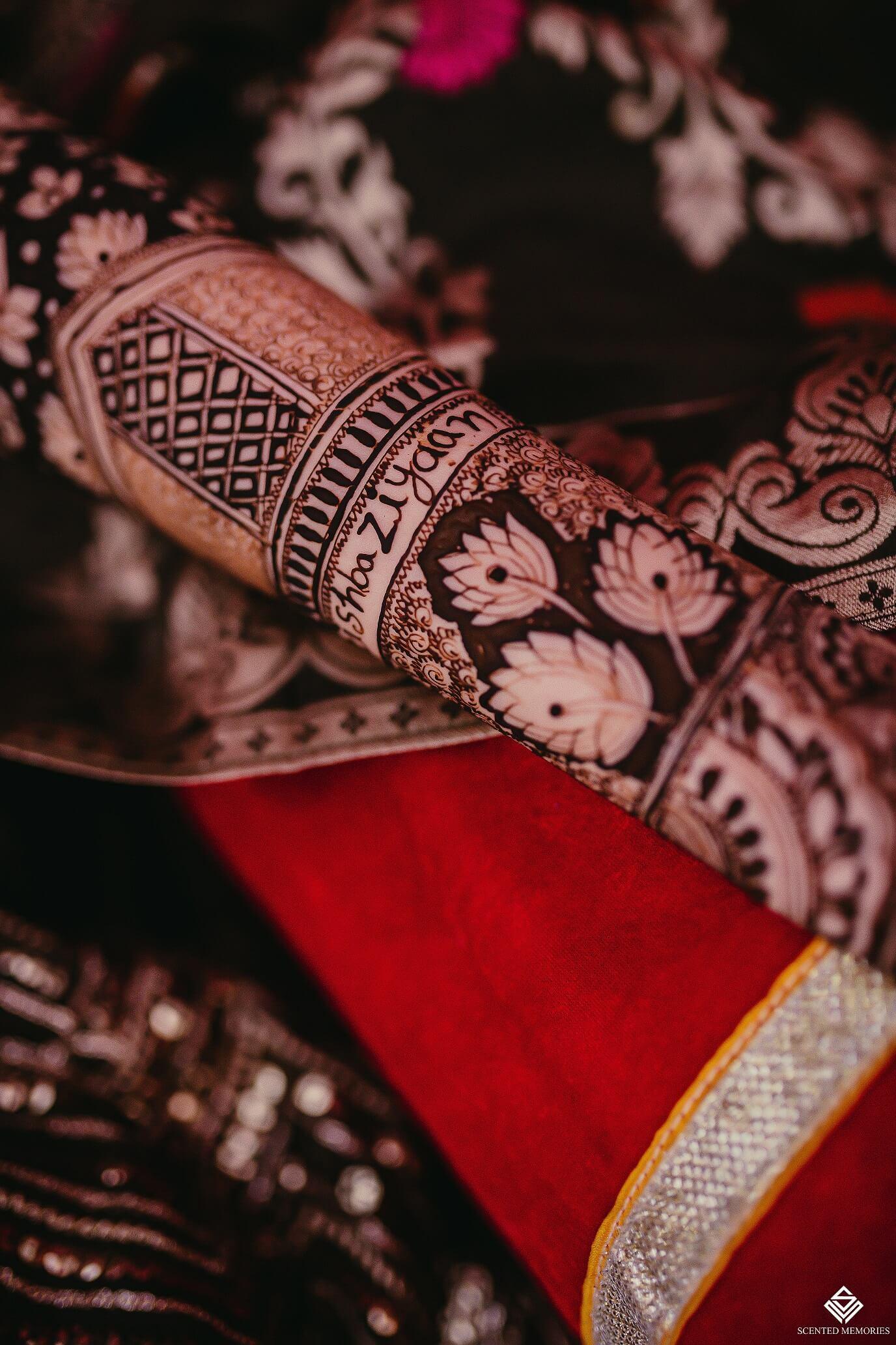 lotus motif henna