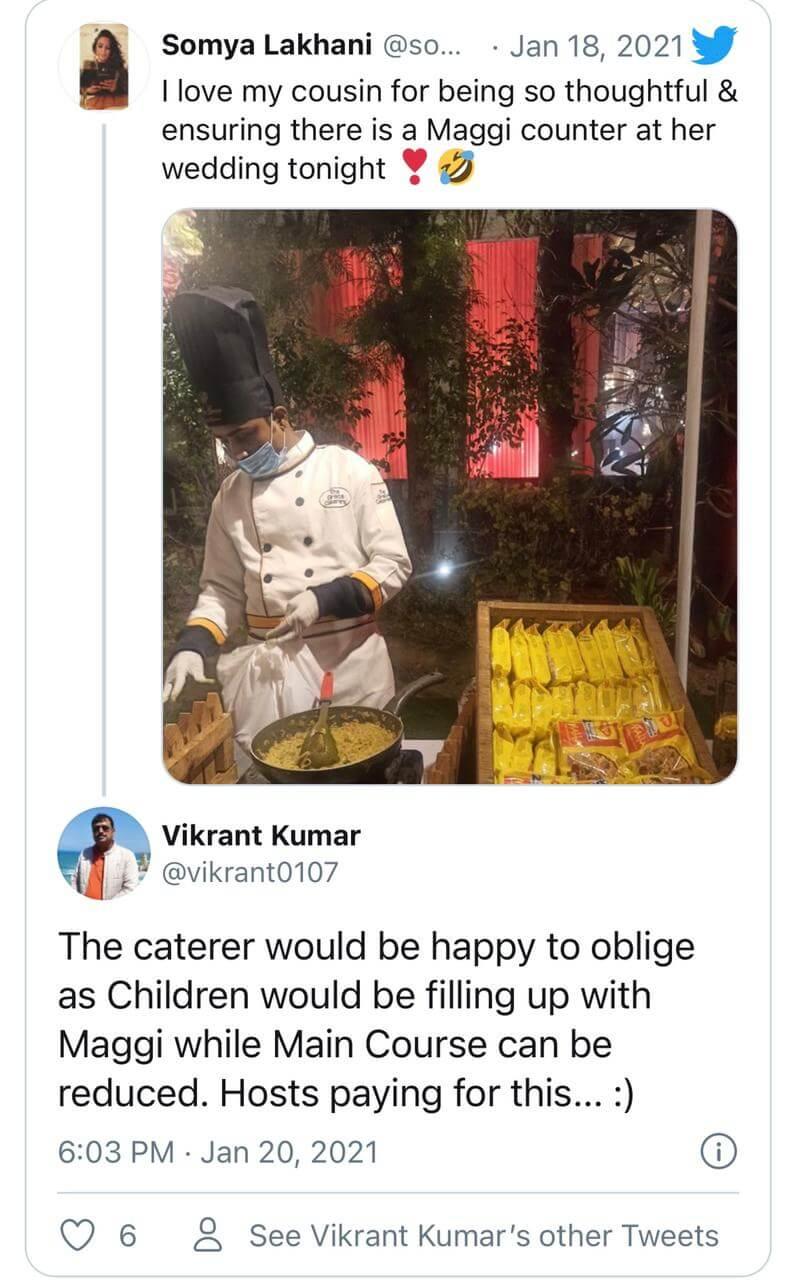 maggi counter on social media