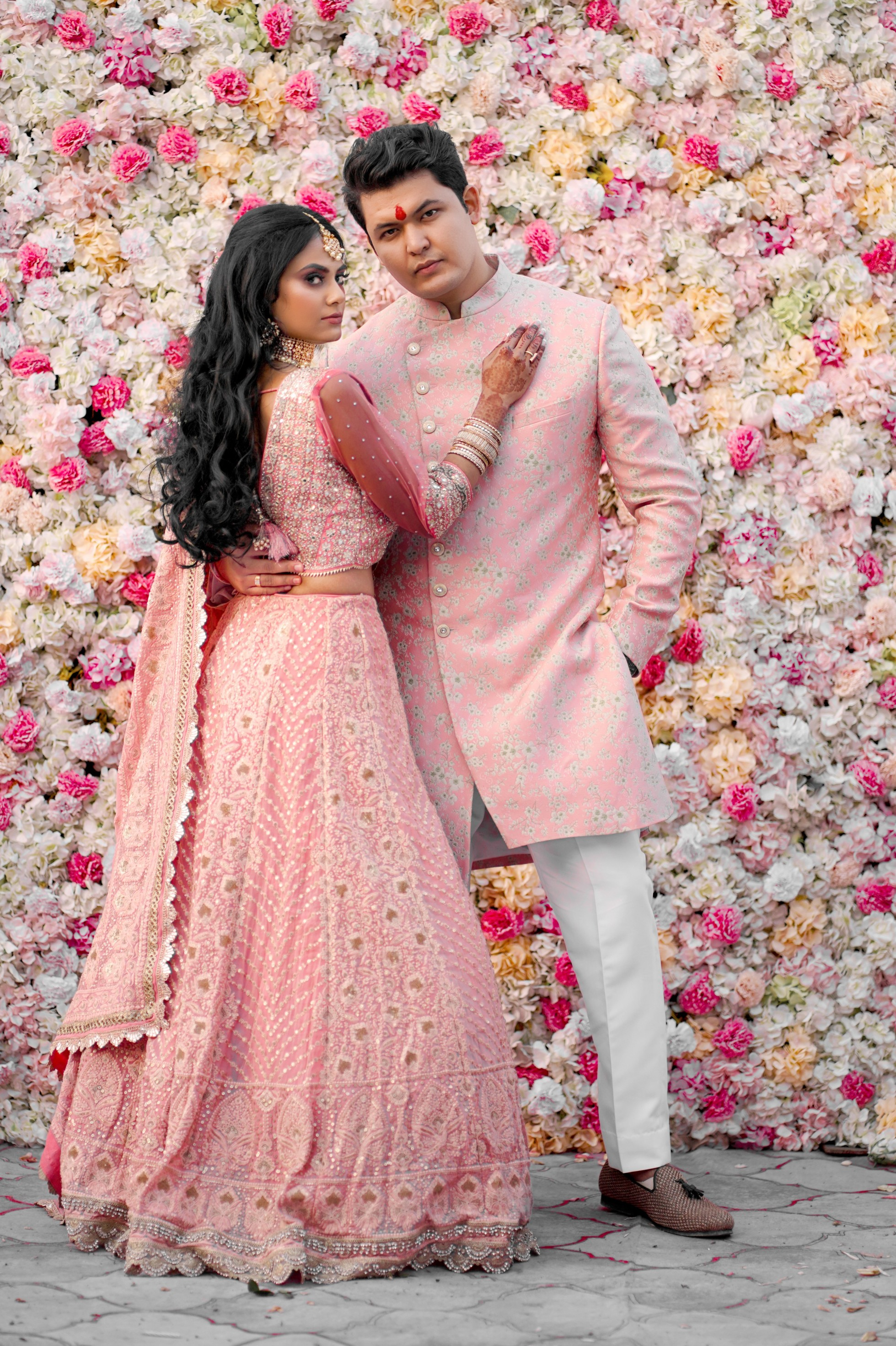 pastel pink wedding outfits