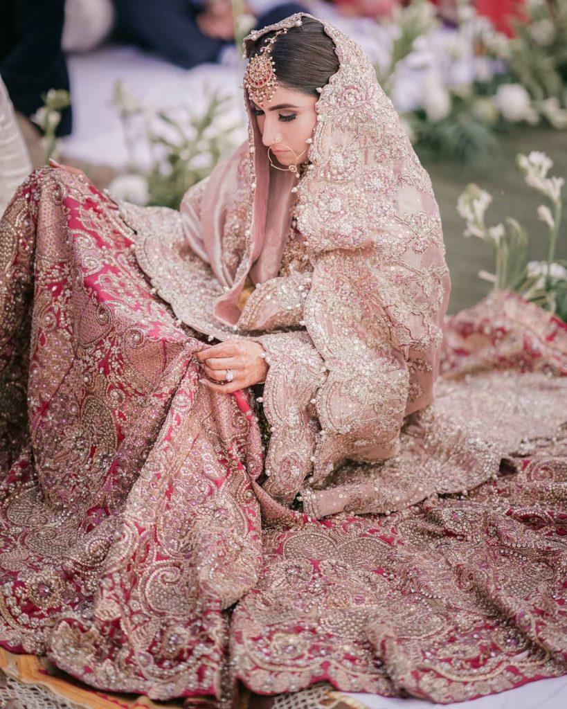 pink bridal wear