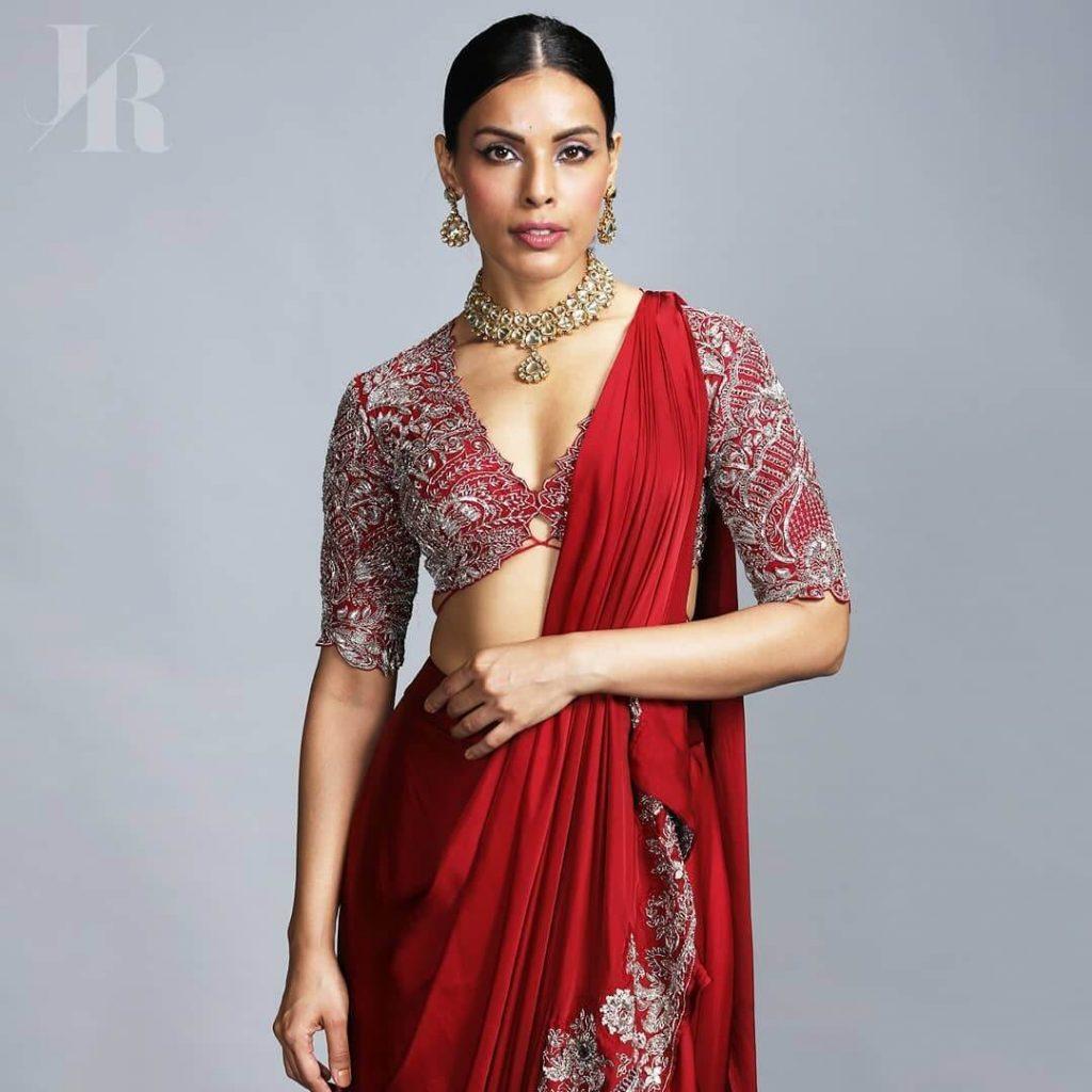 plunging saree blouse designs