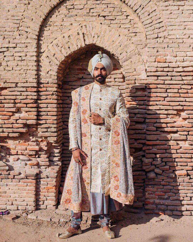 sikh groom sherwani