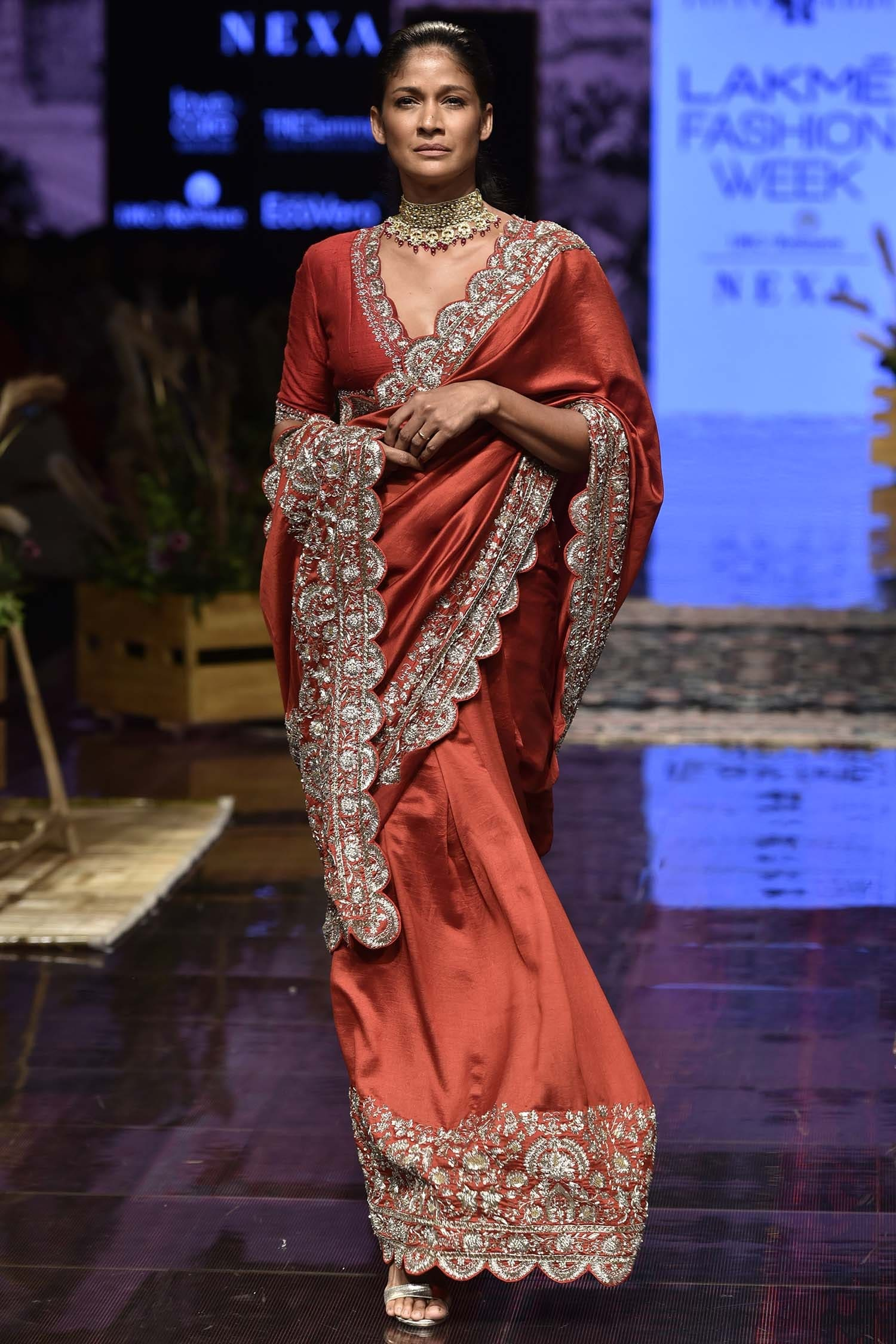 silk saree with embroidered borders