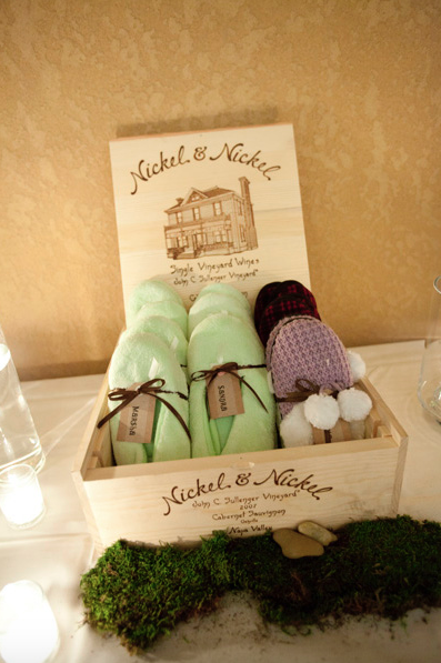 slippers as wedding favors
