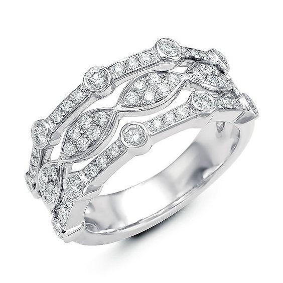 studded platinum ring