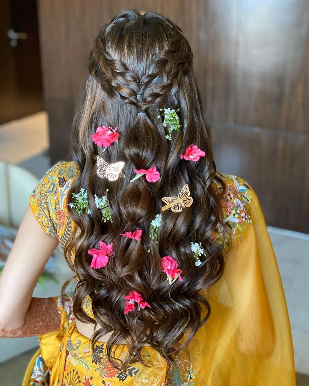 vibrant butterfly open hair
