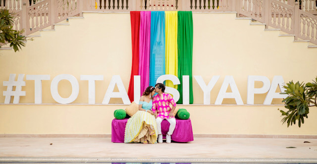wedding hashtag decor