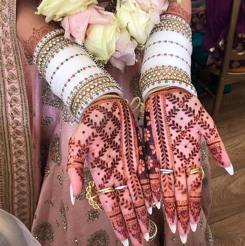 white bridal chooda