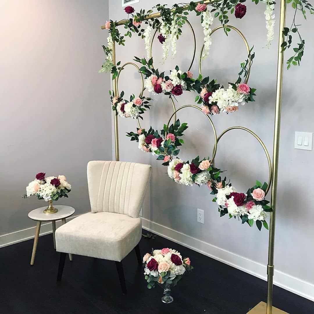 white floral wreath decor
