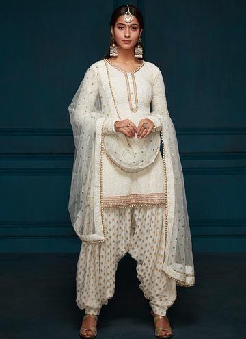 white salwar kameez for lohri outfit
