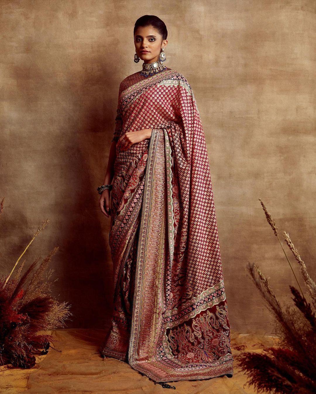 zardosi detailed saree