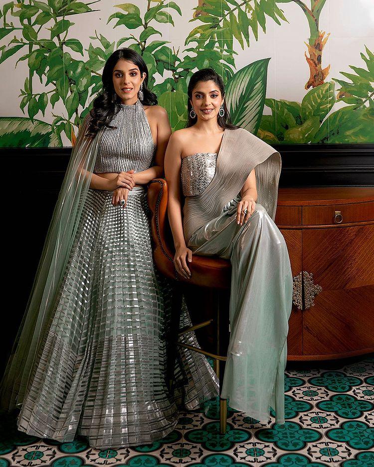 bridal metallic outfits