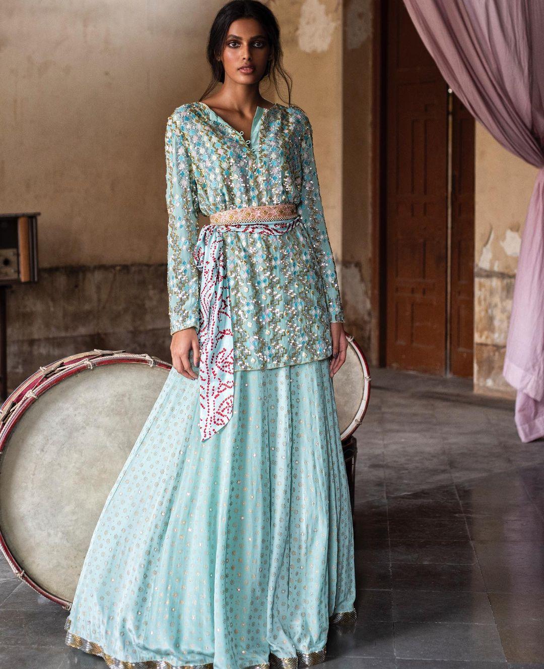 Blue Anushka Khanna Lehenga