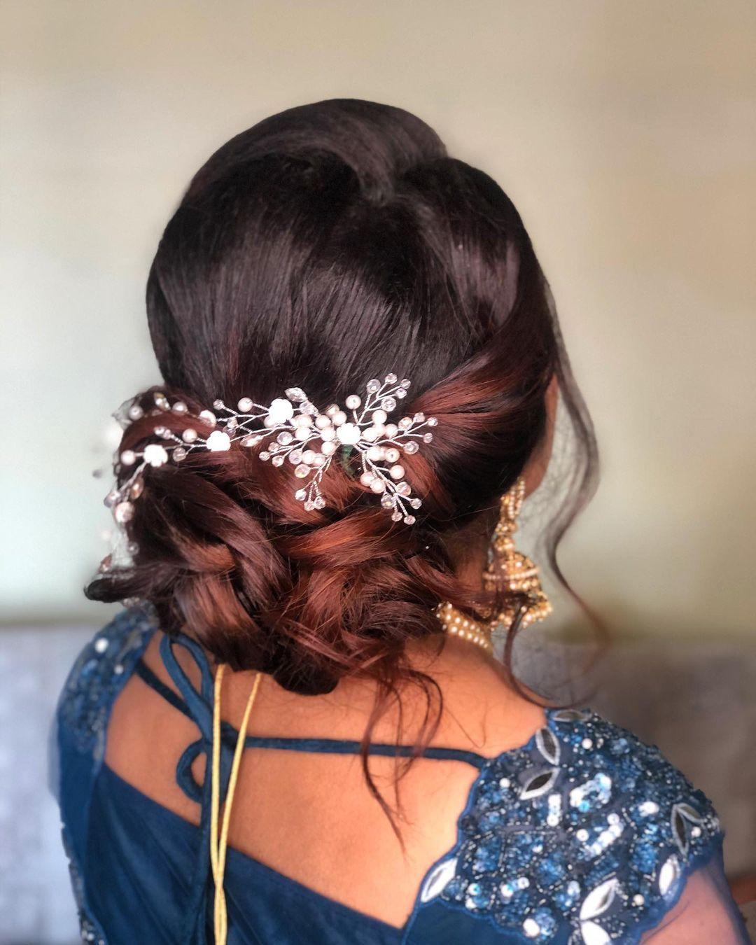 Hair bun with accessories