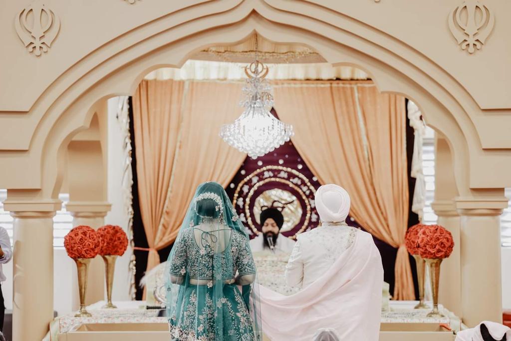 Intimate Gurudwara Wedding in Canada