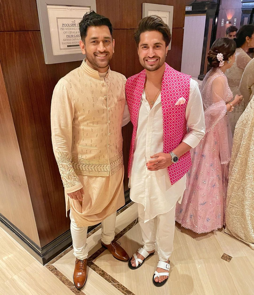 Jassie Gill with MS Dhoni
