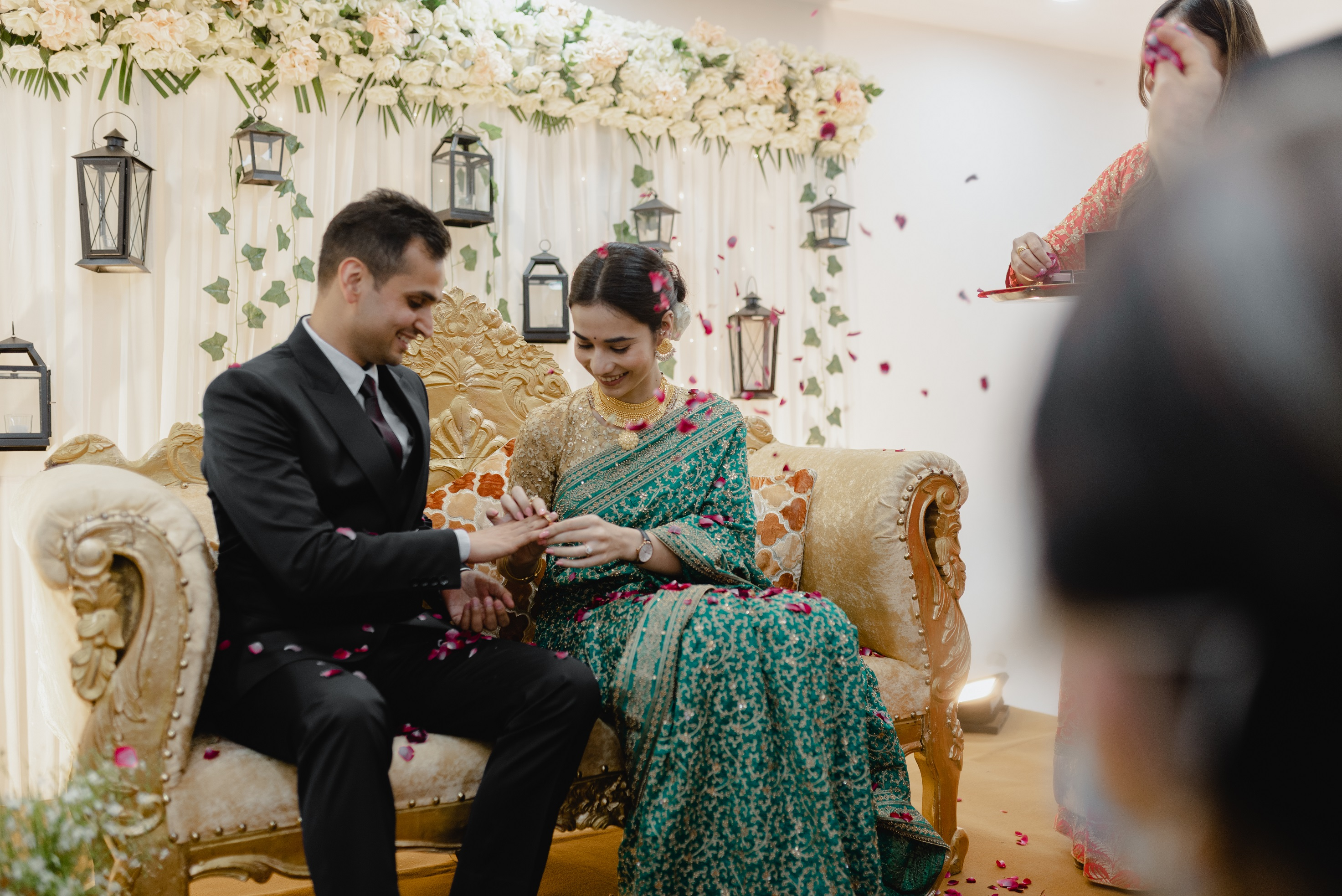 Swati and Abhishek engagement picture