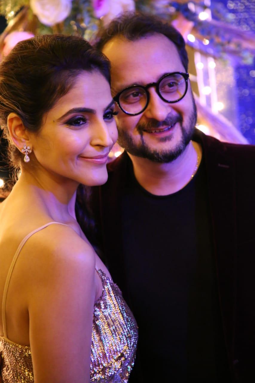 Tamanna C With husband Amit Walia