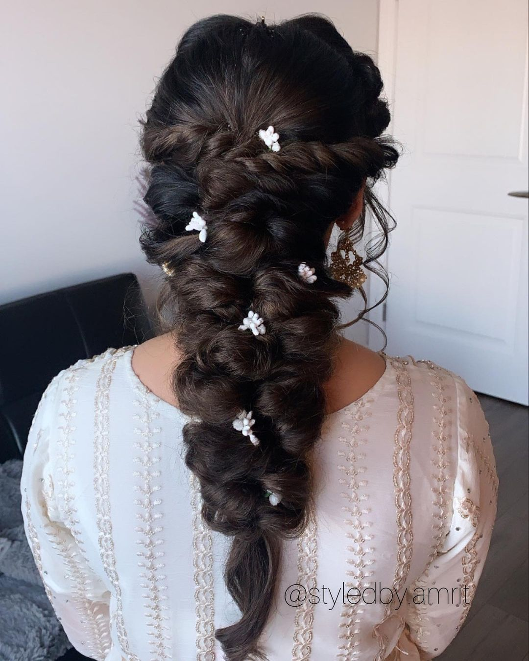 braided hairstyles for culry haired brides