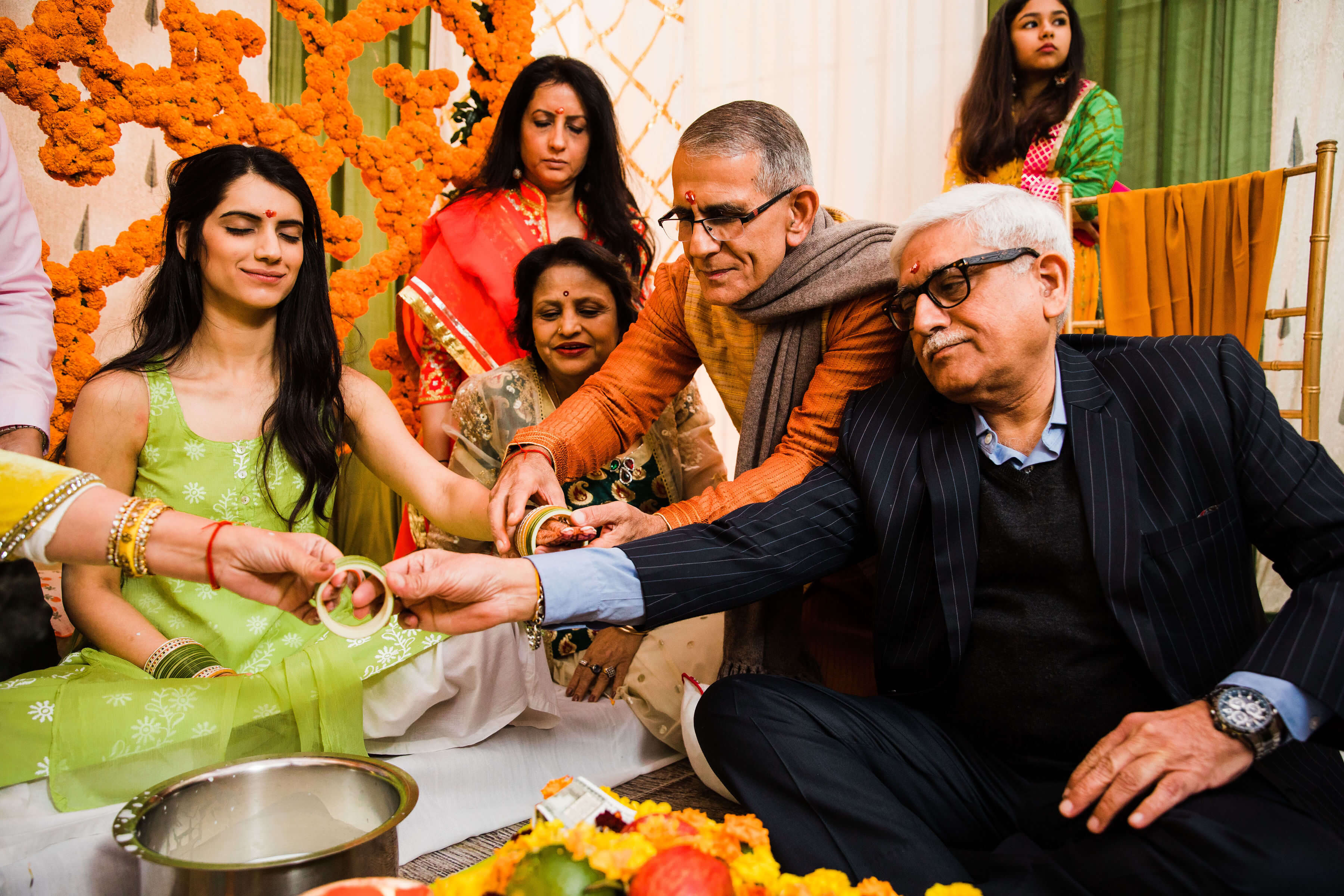 bridal chooda ceremony