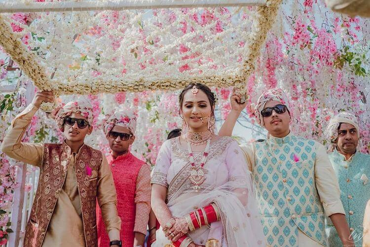 phoolon ki chadar for bride