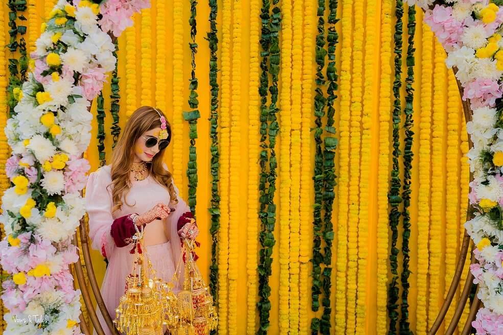 bridal haldi look