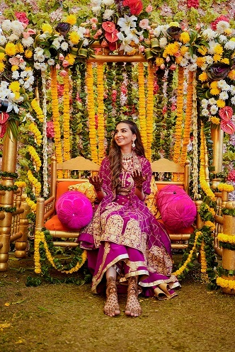 bridal portrait on swing