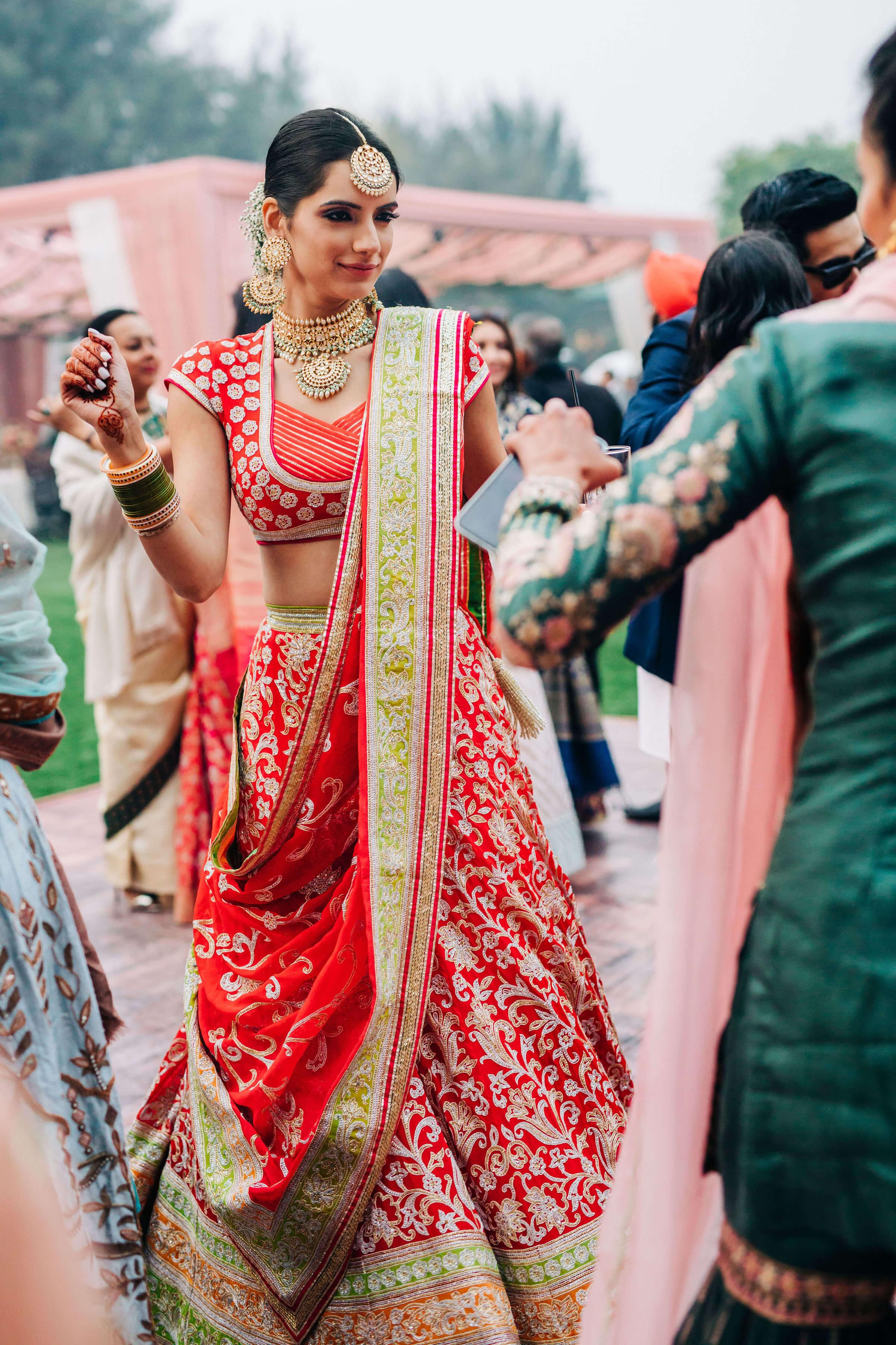 bride dancing shot
