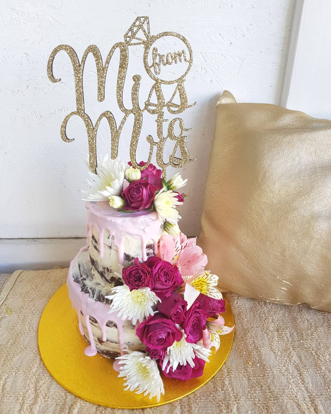 bride-to-be cake