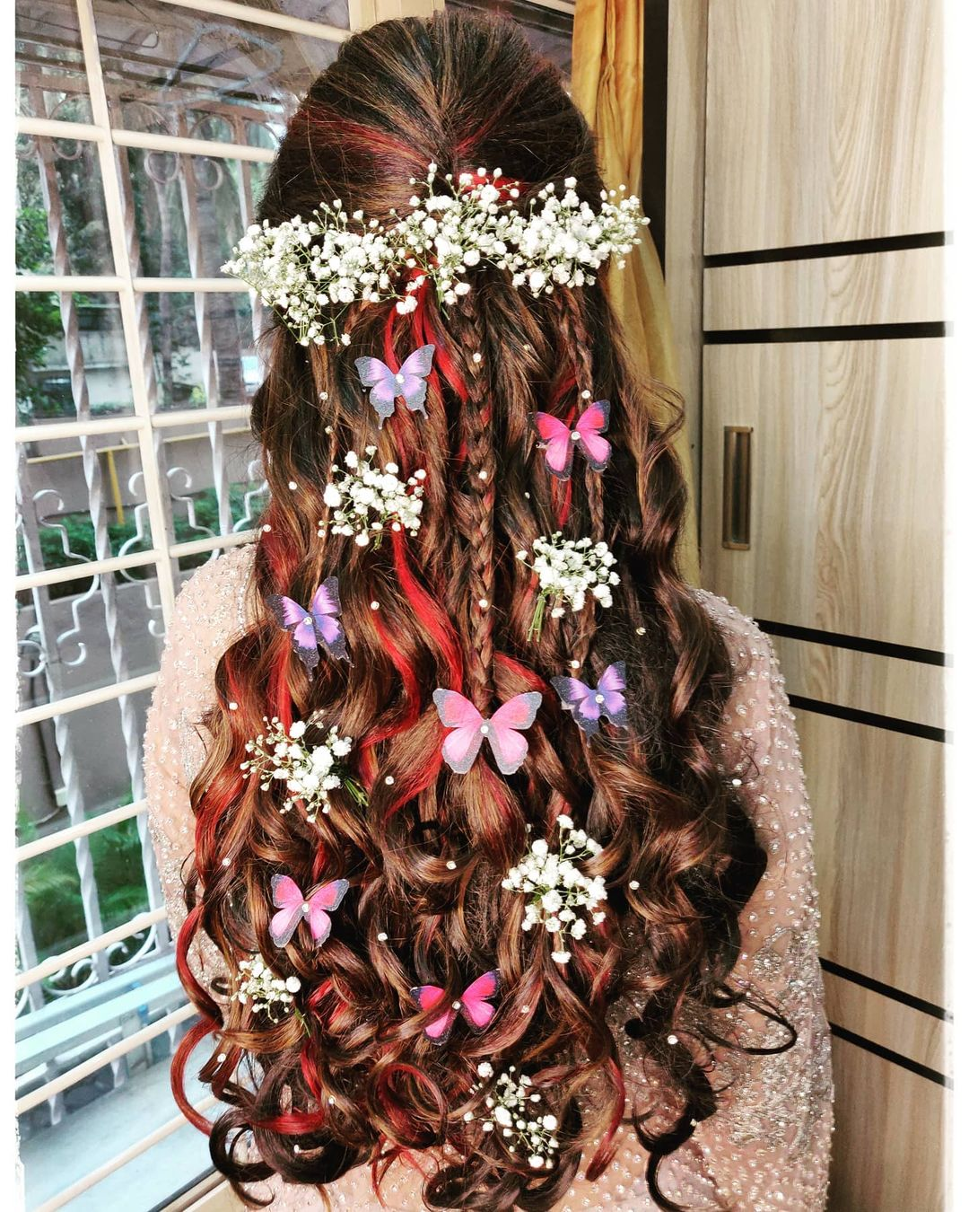 butterfly hairstyle accessories