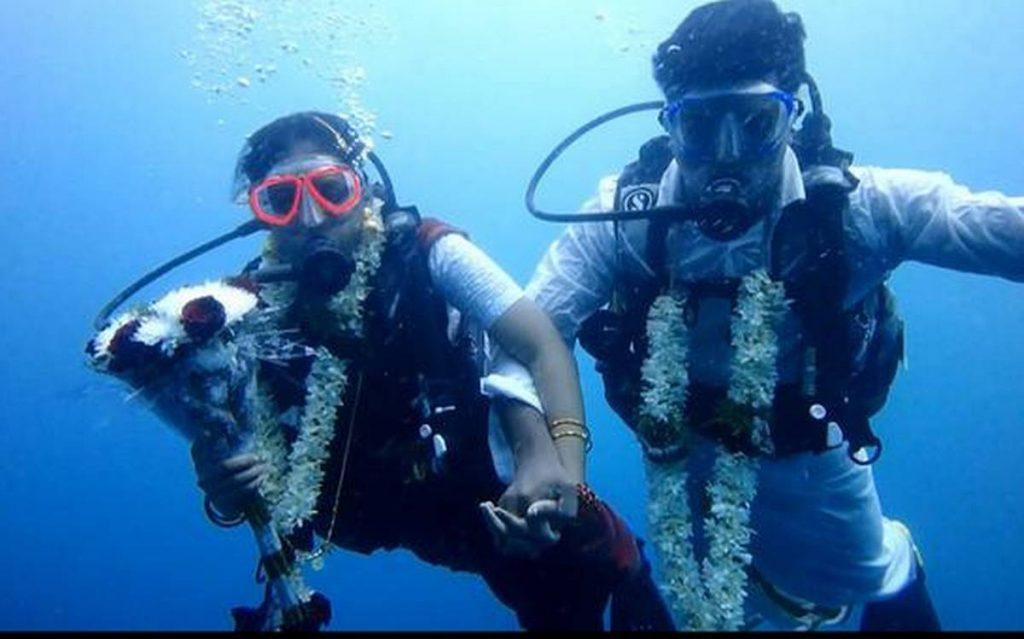 Wedding Vows Underwater
