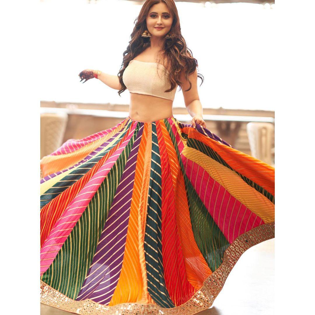 colorful Lehenga skirt