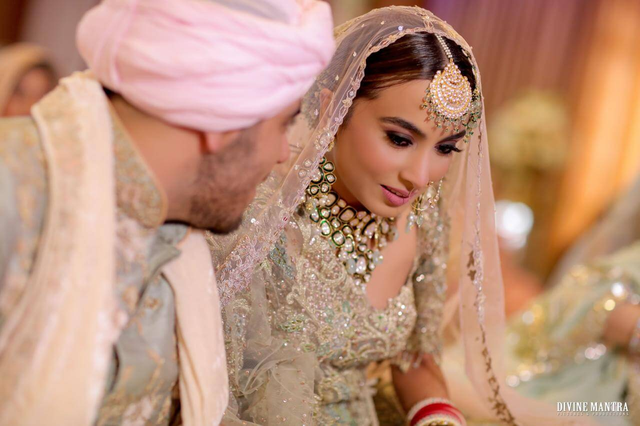 couple shot during wedding
