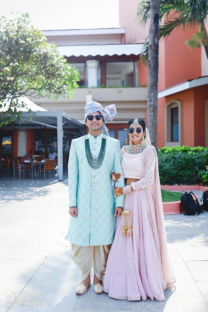 sunglasses at a wedding,