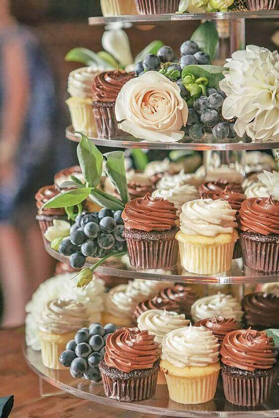 Cupcake Stations At Weddings