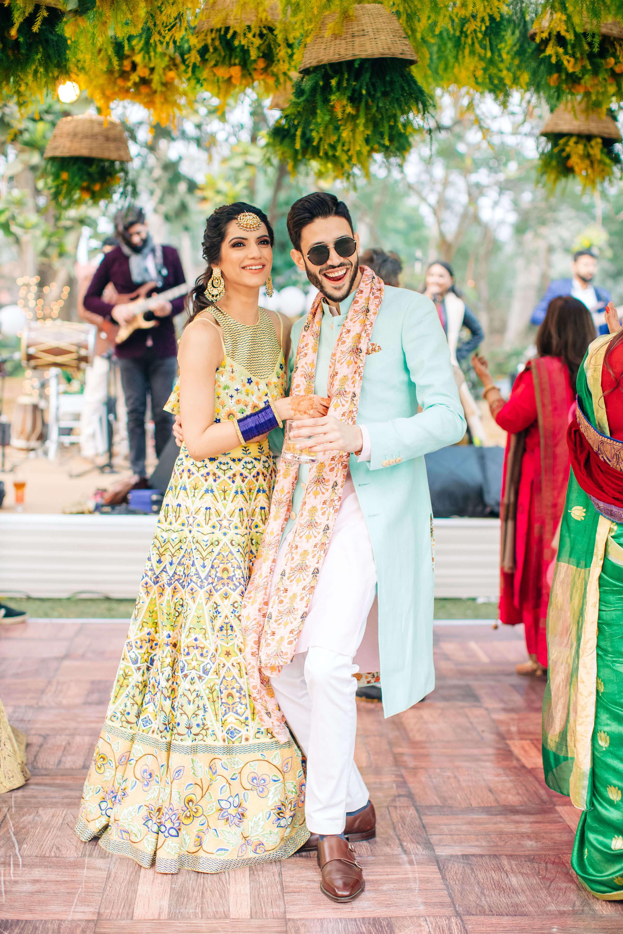 dancing couple shot
