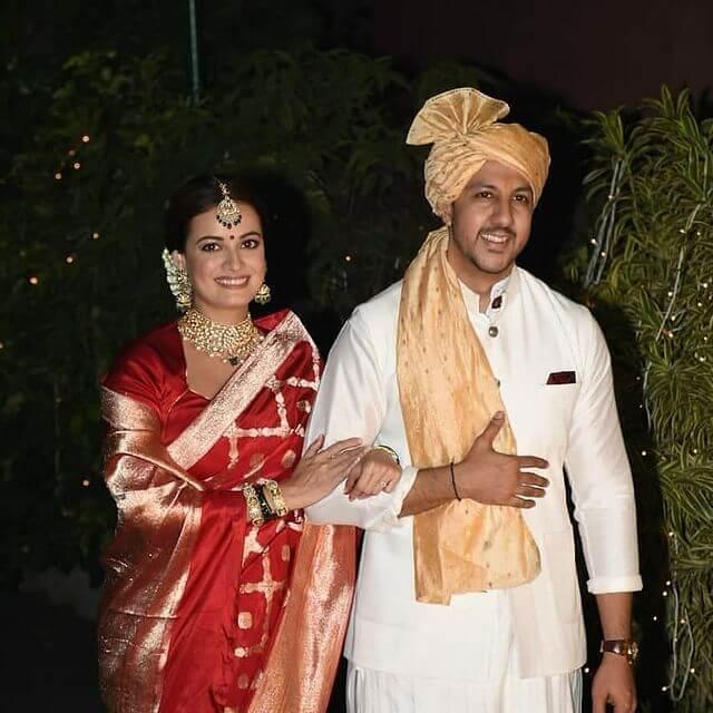 Dia Mirza bridal saree