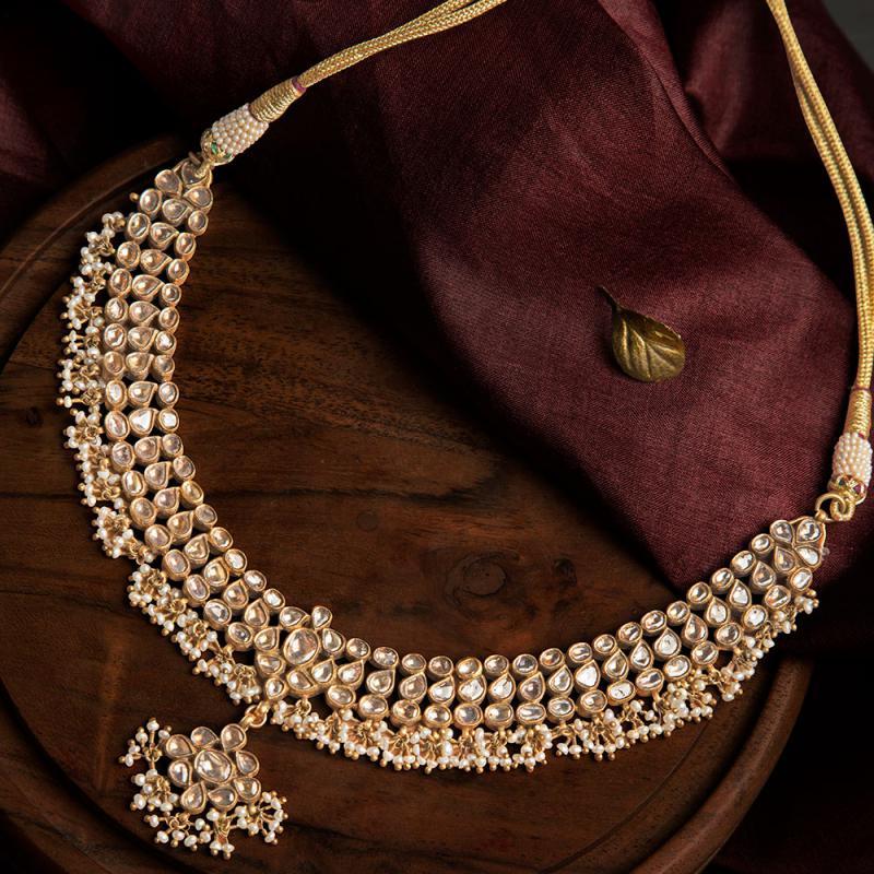 diamond polki necklace