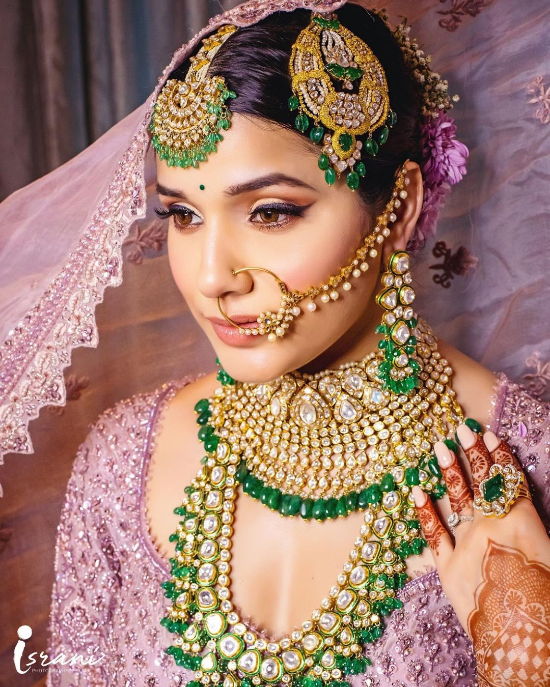 exquisite green bridal jewelry
