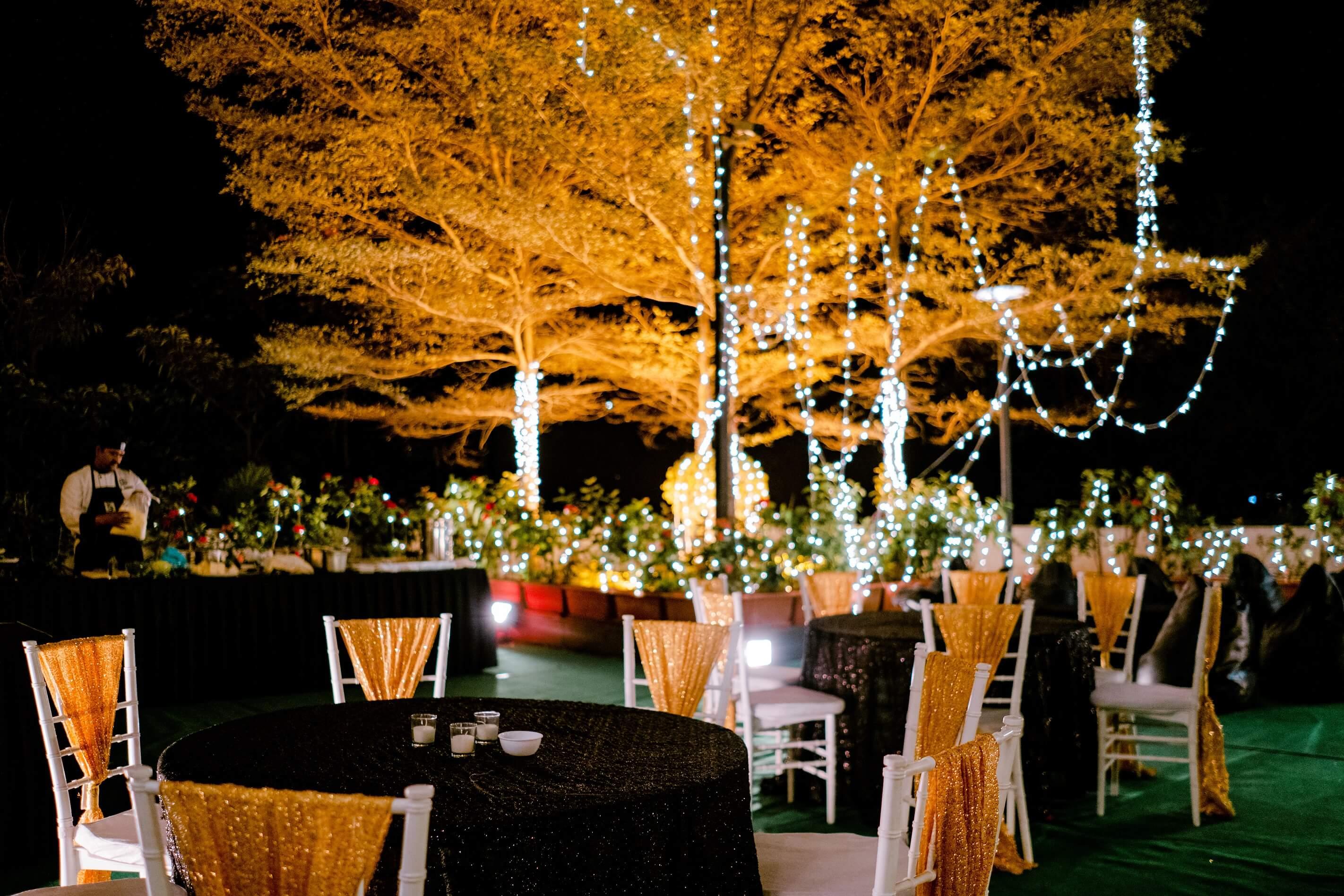 fairylight cocktail decor
