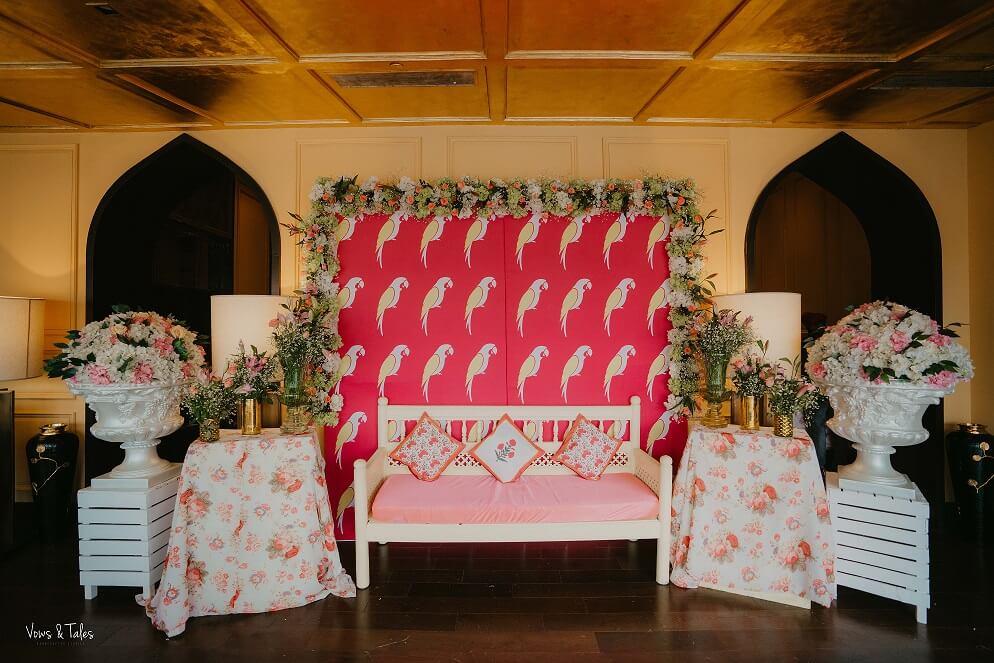 flamingo theme couple seat