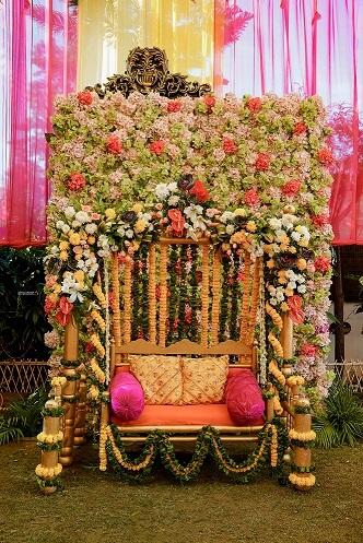 floral bridal swing