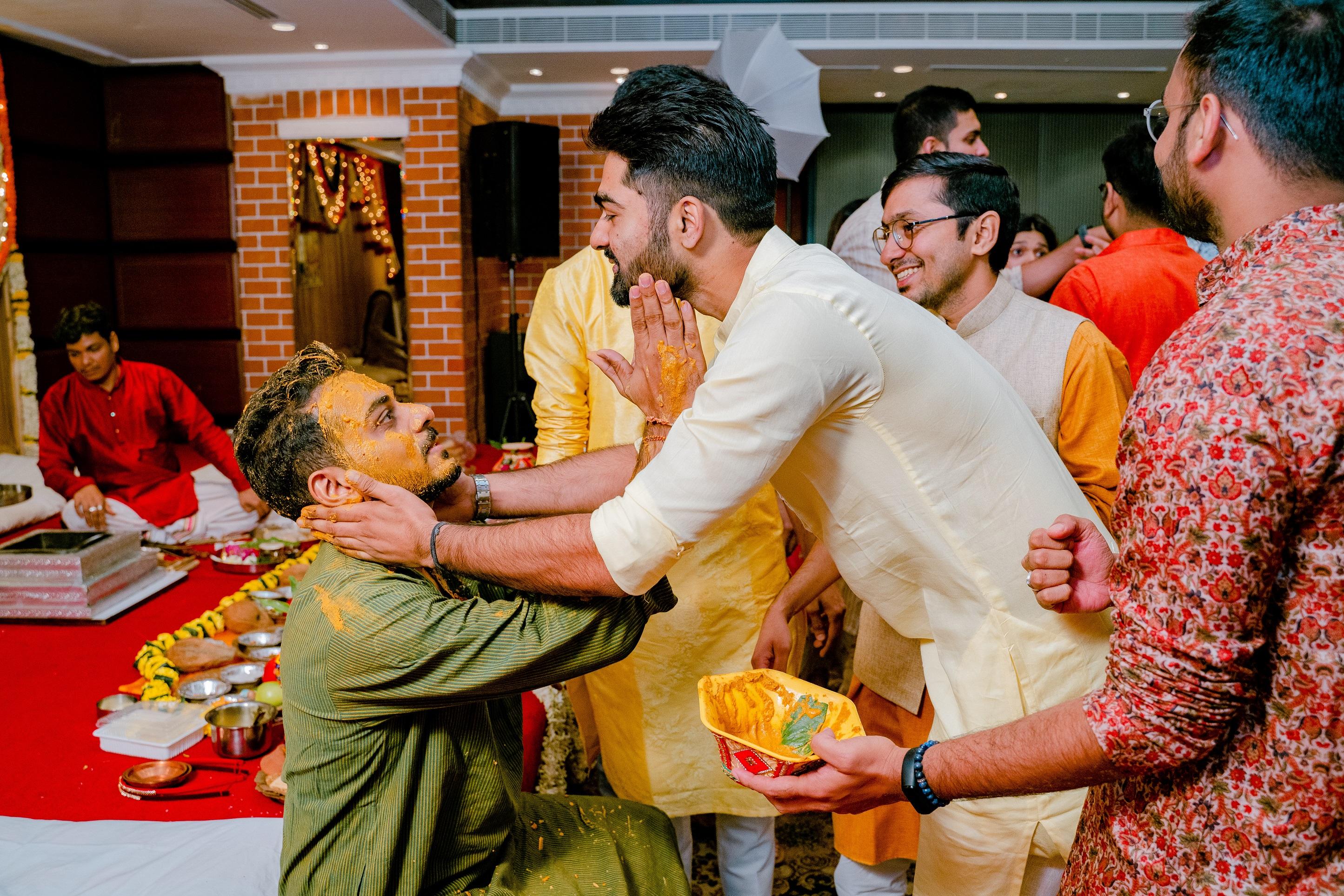 groom haldi rituals